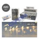 20 LED Fairy Lights Micro, Star, 220cm