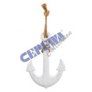 wholesale Pendant: Anchor with rope, small 20x30cm