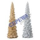 Deco tree with glitter L, 2 / s about 29 cm