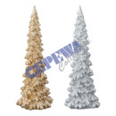 Deco tree with glitter M, 2 / s about 23 cm