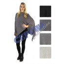 grossiste Pulls et Sweats: Poncho tricoter , 4 assortis