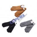 Großhandel Handschuhe: Lederhandschuh, Damen, mit Innenfell, 3/s
