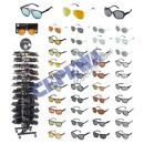 Gafas de sol varían en 2017, en el stand giratoria