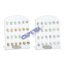 wholesale Business Equipment: Earrings Diamond , 30 / s, on Display