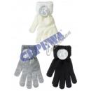 Großhandel Handschuhe: Handschuhe 'Blacky Teddy', 3/s