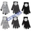 Großhandel Handschuhe: Handschuhe 'Blacky' touch, 6/s