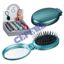 wholesale Mirrors: Folding brush with mirror, oval, 4 / s in the Disp