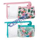 Großhandel Reiseartikel: Kosmetiktasche 'Flamingo groß', 2er Set, 2/s