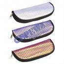 wholesale Glasses: Glasses case with zipper, hologram, 3 / s, approx