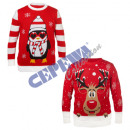 grossiste Pulls et Sweats: Pull Ugly Christmas, rouge, unisexe, 2 / s