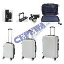Großhandel Koffer & Trolleys: Kofferset A005, 3tlg. weiß