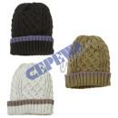 Men's hat, cable knit, 3 / s