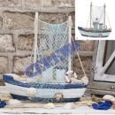 Fishing Boat, with fishing net, 20.5 cm
