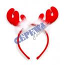 Pałąk X-mas czerwone poroże renifera