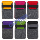 Sorted cell phone bag made of felt, 2-color, 6-fol