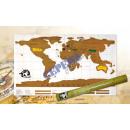 mayorista Papel regalo: mapa del mundo de rascado de un papel de regalo