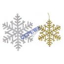 wholesale Jewelry & Watches: Pendant snowflake 17x21cm 2-way sort.