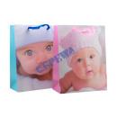 Großhandel Babyspielzeug: Geschenktüte 'Baby-Gesicht' gr. , 2/s
