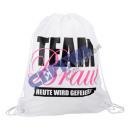 Großhandel sonstige Taschen: Matchbeutel 'Team Braut' weiß