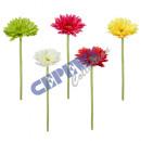 wholesale Artificial Flowers: Artificial Gerbera, ca. 50cm, 5 colors assorted