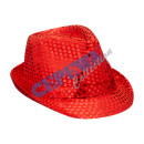 wholesale Headgear: 'Glamor' hat with sequins, red