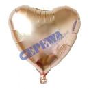 Folienballon 'Herz' rose , ca. 45cm