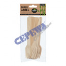 wholesale Cutlery: Bamboo fork, set of 12, approx. 16cm