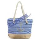 Mini bag 'anchor' light blue, striped