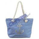Beach bag 'anchor' light blue, striped