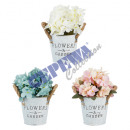 wholesale Artificial Flowers: Artificial flower in a pot, approx. 11x28cm, 3 / s