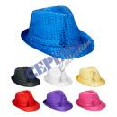 Großhandel Kopfbedeckung: Hut 'Glamour' mit Pailletten, 7-fach sortiert