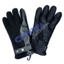 wholesale Gloves: Glove with leather insert, black