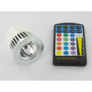 grossiste Ampoules: RVB 5 Watt LED  Spot MR16 avec télécommande IR