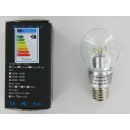 Lampe LED 7 Watt E27 blanc clair verre clair, Non