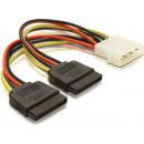 Molex zu SATA-Stromkabel 2x