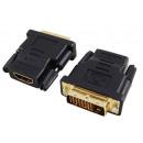 HDMI-Buchse auf 24 + 1 DVI-Stecker-Adapter