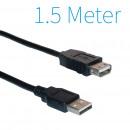 USB 2.0 Verlängerungskabel 1,5 Meter Männlich - We