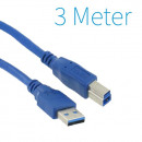 USB 3.0 A - B Printer Cable 3 mètres