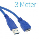 USB 3.0 A - Micro B Kabel 3 Meter