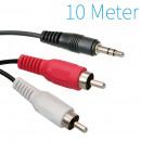 mayorista Informatica y Telecomunicaciones: Jack de 3,5 mm  macho a 2x RCA macho Cable de 10 me