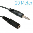 Jack 3,5 mm Câble d'extension de 20 mètres