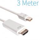 Mini Displayport auf HDMI Stecker Kabel 3 Meter