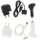 Oplaad Set 4in1 voor iPhone 3G / 3GS / 4  Wit