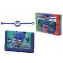 gift kids wallet + armband pj masker