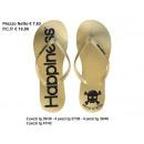 mayorista Zapatos: Mujer de la felicidad oro del flip-flop malibu&#39