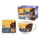 gift keuken cup + coaster huisdieren