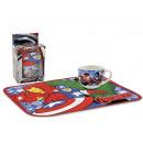 gift keuken placemat cup + Avengers