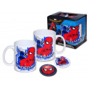 gift home cup + 2 spider-man magnets