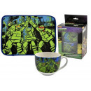 gift kitchen placemat + cup turtles