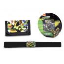 gift kids wallet + schildpadden riem